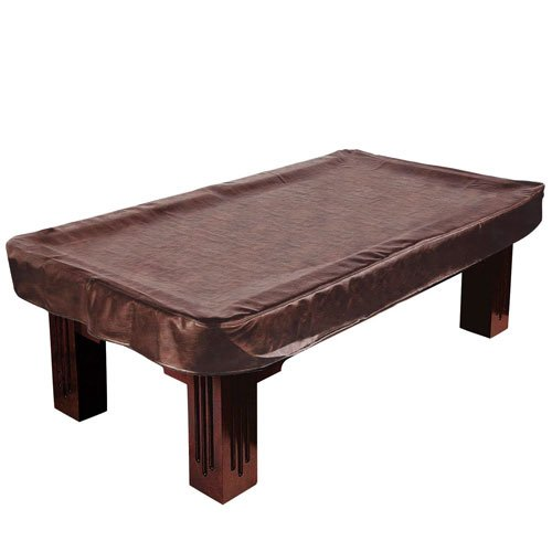 8-Foot Brown Heavy Leatherette Billiard Table Cover by Felson Billiard Supplies