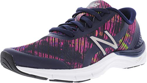 (New Balance Women's 711 v3 Cross Trainer, Pigment/Striped Velocity Graphic, 5 B US)