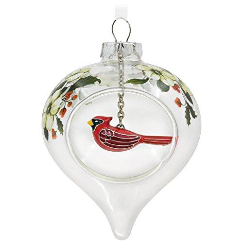 Hallmark Keepsake 2017 Winter Cardinal and Holly Glass an...