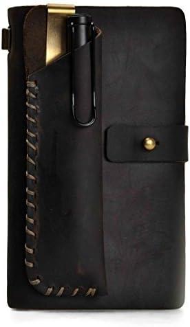 ZLYC Vintage hecho a mano rellenable Cuero viajeros revistas diario bloc de notas Notebook con Estuche: Amazon.es: Oficina y papelería