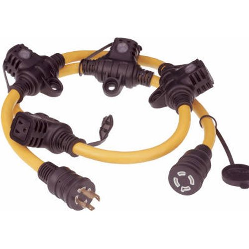 Marmon Home Improvement Prod 615-16457HDR 12//4 Generator Cord 5-Feet