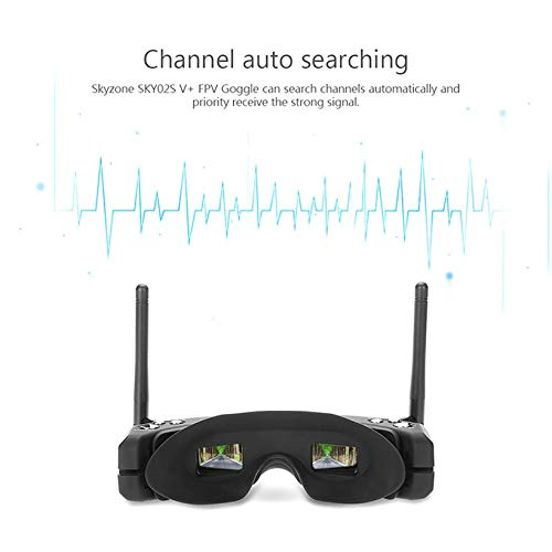 Wikiwand SKYZONE SKY02S V+ 3D 5.8G 40CH FPV Goggles Video Glasses w/ Transmitter Camera by Wikiwand (Image #5)