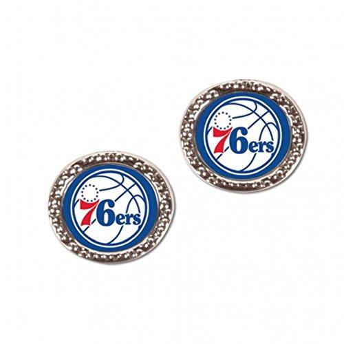 McArthur NBA Philadelphia 76ers Carded Round Jewelled Post Earrings ()