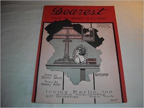 Tekst til ebook download DEAREST BENNY DAVIS 1922 SHEET MUSIC SHEET MUSIC 233 PDF DJVU