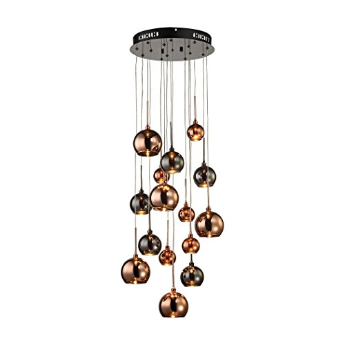 Manhattan Collection Nexion 15 Light Chandelier In Black Chrome - (Elizabethan Chandelier Light)