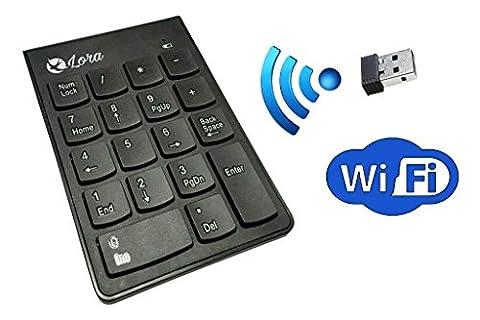 Numeric Keypad - Wireless Mini - Numpad - 18 Keys - PC - Notebook - USB Number Pad by Lora - Notebook Computer Lock