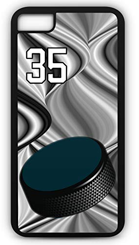 iPhone 6 Plus 6+ Phone Case Hockey H056Z by TYD Designs in Black Plastic Choose Your Own Or Player Jersey Number 35 (Iphone 6 Devils Hockey Case)