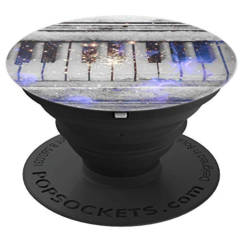 (Galaxy Nebula Piano - Pianist Rustic Keys Design - PopSockets Grip and Stand for Phones and Tablets)