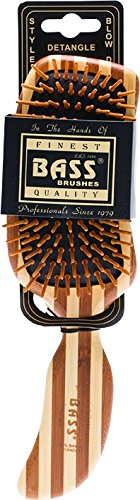 Bass Brushes | The Green Brush | Bamboo Pin + Bamboo Handle Hair Brush | - Brush Hair Bass