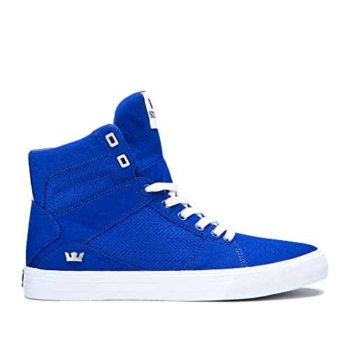 Womens High Top - Supra Aluminum High Top Lace Up Sneaker Shoes, Royal-White, Size 8