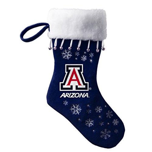 Boelter Brands NCAA Arizona Wildcats Full Embroidered Snowflake Stocking (Wildcats Ncaa Christmas Stocking)