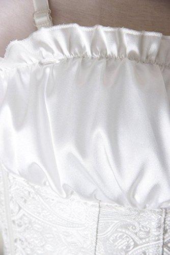 floreale FeelinGirl motivo Bianco in da donna raso Bustino 0rWnxwYzAr