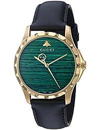 Swiss Quartz Gold-Tone and Leather Dress Watch(Model: YA126463)