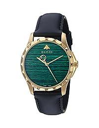 Gucci Men's YA126463 Analog Display Swiss Quartz Black Watch