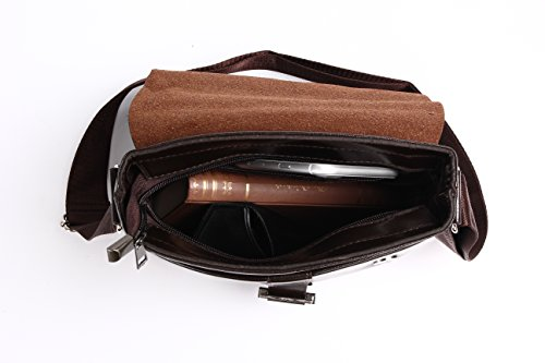Eagle - Bolso al hombro para hombre negro Black - 1587 mediano Dark Brown - 6671