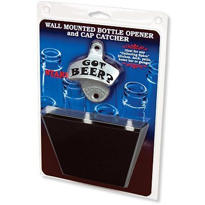 Cheap Got Beer Combo, Opener/Black Metal Cap Catcher