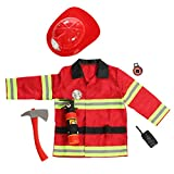 DRESS 2 PLAY Fireman Costume, Pretend Play Costumes