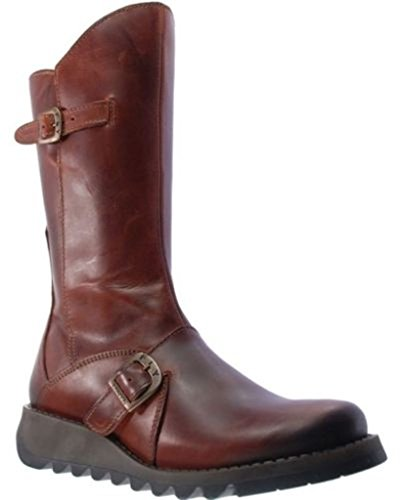 Fly London Mes 2 Brick Pelle Donna Mid Calf Stivali