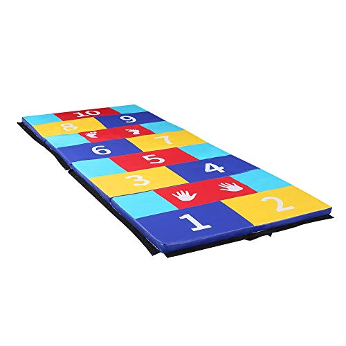 ZENOVA Folding Exercise Mat for Kids Tumbling Mats for Gymnastics Puzzle Play Mats