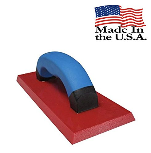 Troxell USA 4'' x 9'' Solid Urethane Grout Float with SoftGrip Handle