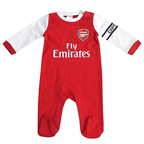Official Licensed Arsenal F.C - Sleepsuit (3-6 Months - WT) by Official Licensed