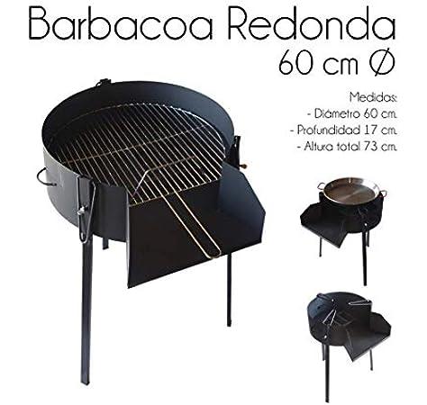 IMEX EL ZORRO 71582 Barbacoa Redonda con Soporte para Paella, diámetro 60 x 75 cm: Amazon.es: Jardín