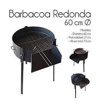 ESTUFAS GARCIA Barbacoa Redonda 60 CM Chapa con Soporte para Paella: Amazon.es: Jardín
