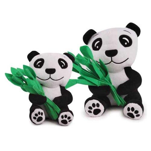 Zanies Plush and Felt Prosperity Panda Dog Toy, Large