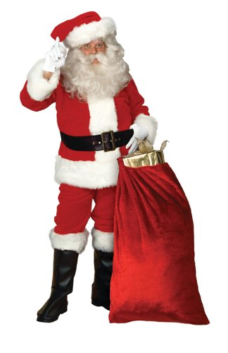 Professional Santa Claus Suit Adult Costume - X-Large by Halco