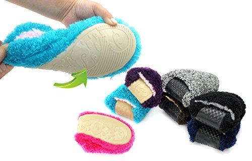 Pantofole Cattior Mens Comode Pantofole Morbide Calde (10, Blu)