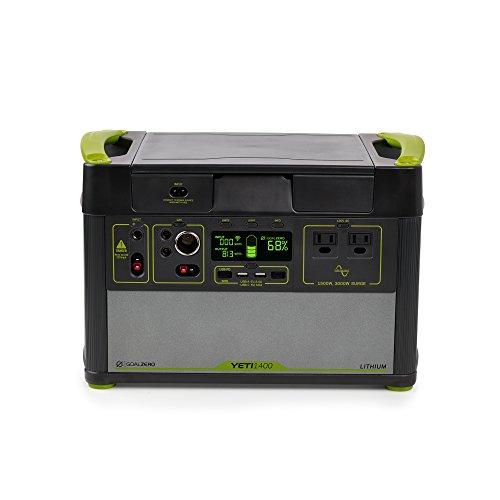 Goal Zero Yeti 1400 Lithium Portable Power Station WiFi Mobile App Enabled 1425Wh Silent Gas Free Generator Alternative with 1500 Watt 3000 Watt Surge AC Inverter, USB, USB-C, USB-PD, 12V Outputs