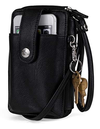 MUNDI Jacqui Vegan Leather RFID Womens Crossbody Cell Phone