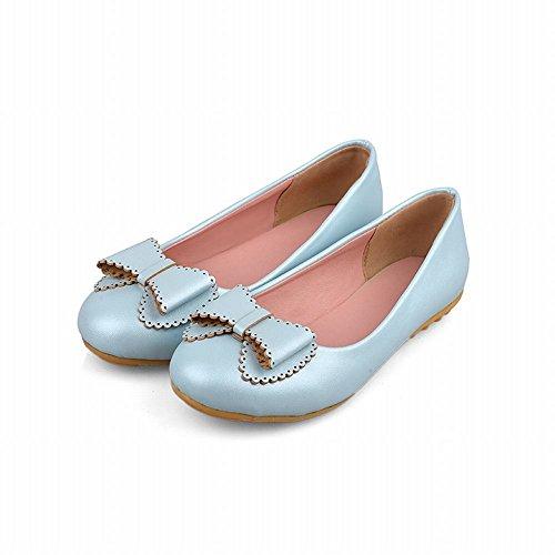 Latasa Womens Carino Fiocco Slip On Pumps Scarpe Scarpe Blu