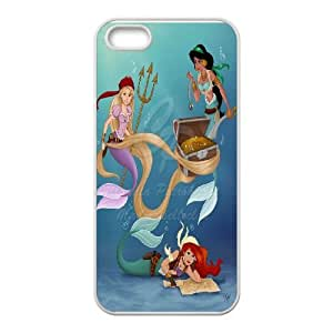 For Apple Iphone 5 5S Cases Cartoon Princess Mermaid Pattern Protective Back Case-Style-16