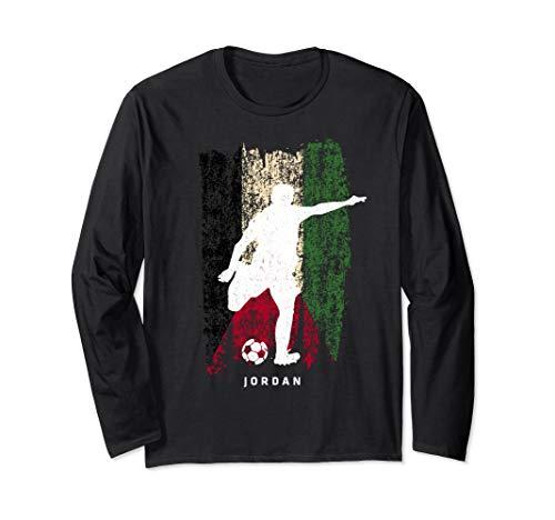 Jordan Flag Long Sleeve T-Shirt Soccer Player Tee