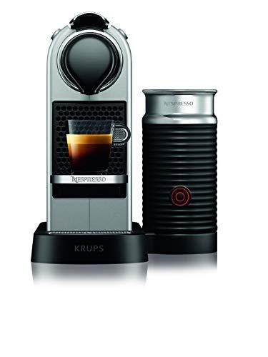 Nespresso Krups Citiz XN760B – Cafetera monodosis de cápsulas Nespresso con aeroccino, compacta, 19 bares, apagado…