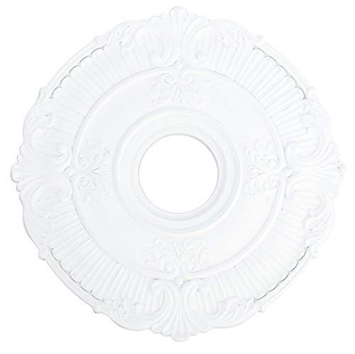 Livex Lighting 82030-03 Buckingham Ceiling Medallion, White Buckingham Ceiling Lighting