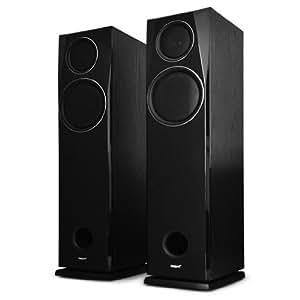 "Marquant – Pareja de Altavoces HiFi para sistema Home Cinema y música alta fidelidad (2 vías, 16,5cm (6,5""), 2 x 100W RMS - 2 x 250 W máx., Bass reflex) Color Negro"