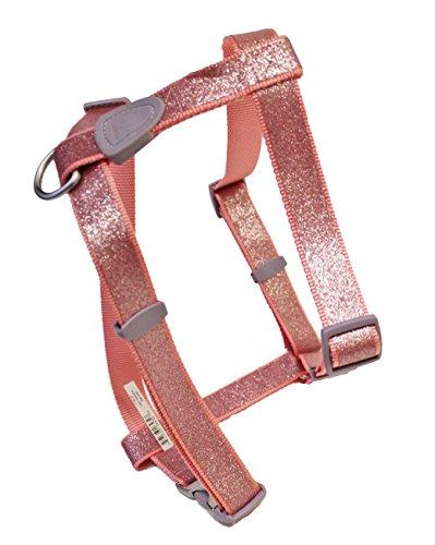 Aspen Pet Adjustable Nylon Dog Harness Pink Sparkle Large