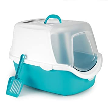 Caja aseo gatos Cathy EASY CLEAN turquesa