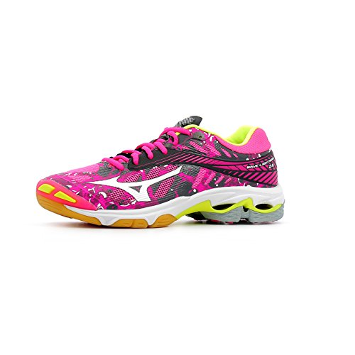 Mizuno Damen Wave Lampo Z4 Wos Volleyballschuhe, Bianco Rose / Gris / Blanc