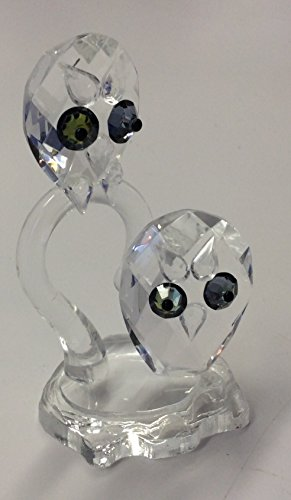 European Optic Pure Crystal Figurine 2 Hooting (Kensington Crystals)