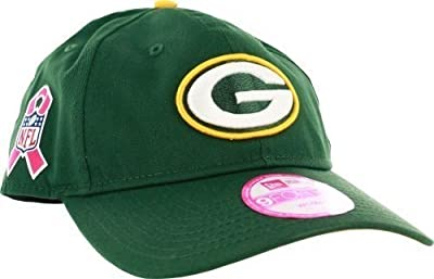 Green Bay Packers Women's Sideline 940 Breast Cancer Awareness Adjustable Hat by New Era