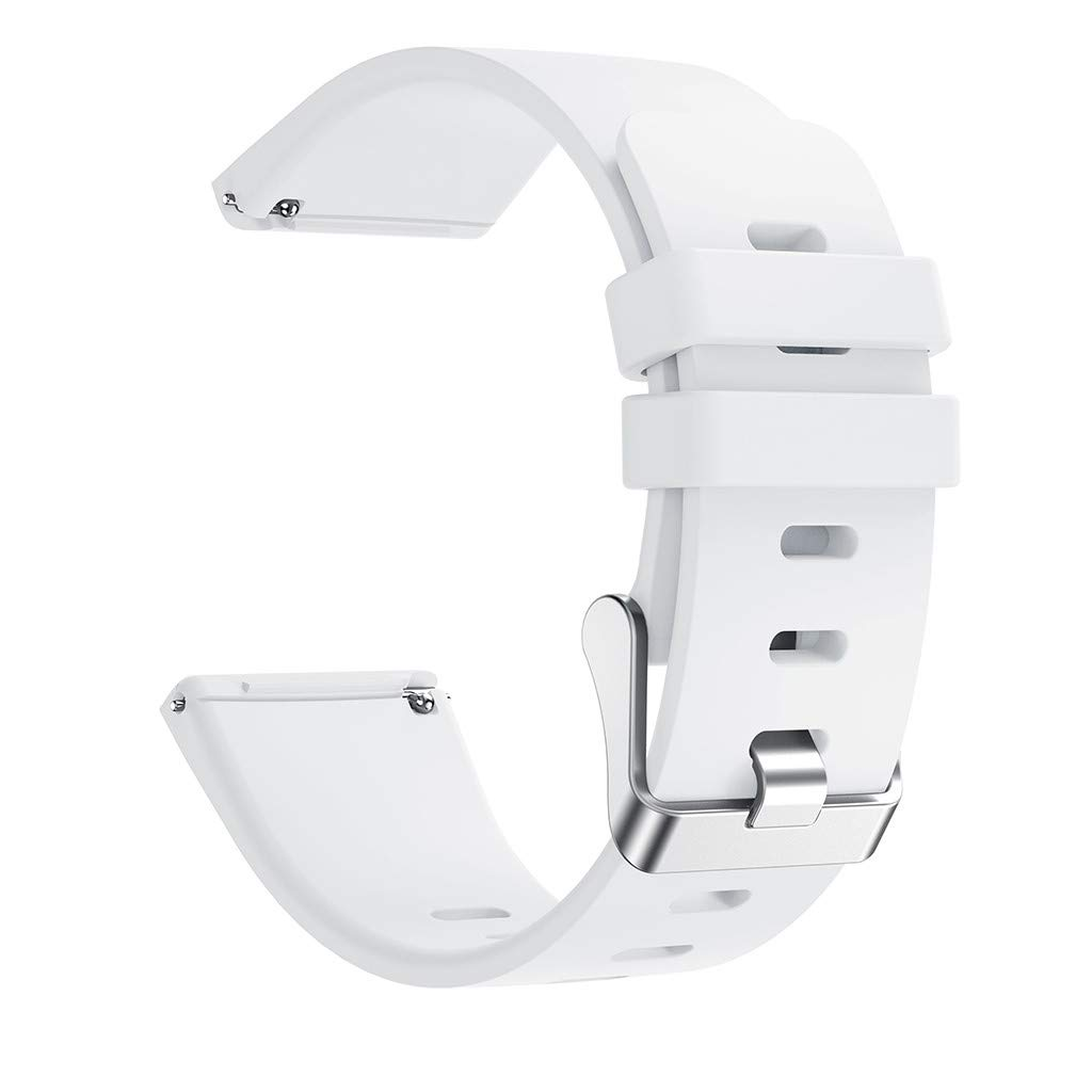 for Fitbit Versa Lite Watch Bands, Thing-ning Classic Silicone Replacement Sports Bracelet Wristband Strap Band for Fitbit Versa Lite Women Men Small (White)