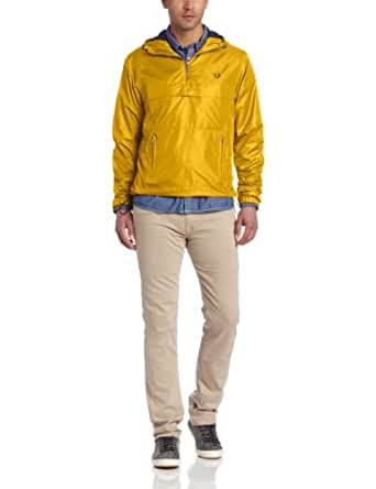 Fred Perry Men's Cagoule Windbreaker, Mustard Yellow, X-Small