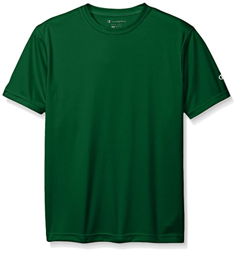 Champion Boys Big Double Dry Short Sleeve Tee, Dark Green, X-Large ()