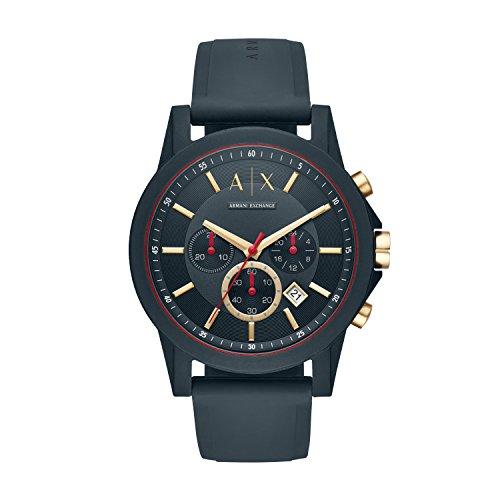 🥇 Armani Exchange Reloj Cronógrafo para Hombre de Cuarzo con Correa en Silicona