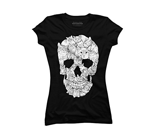 Sketchy Skull Juniors Graphic Shirt