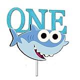 GmakCeder Shark ONE Birthday Cake Topper for Baby shark 1st First Birthday Boy