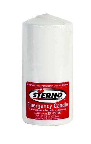 Sterno 40256 Emergency Candle, White